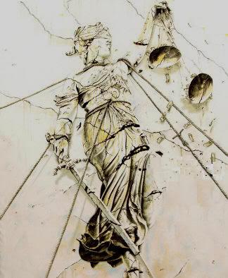 Capa do Album '...And Justice For All ', Metallica, desenhada por Stephen Gorman